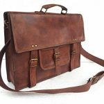 Universal Vintage Handmade Leather Full Flap Laptop Messenger Sling Satchel Bag 15X11X4 Inches Brown ...