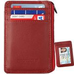 Rfid Blocking Secure Mini Wallet & RFID Sleeve Genuine Leather Front Pocket Wallet, Best Protection for your Credit Cards¡­