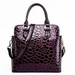 FCZERO HB10054 Leather Handbag for Women,Luxurious & High-Grade Crocodile Shell Bag