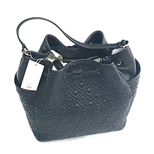 95f7c6c12c6 Tory Burch Marion Quilted Bucket Bag In Black