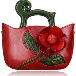 Pijushi Designer Inspired Flower Ladies Handmade Leather Tote Satchel Handbags 8861