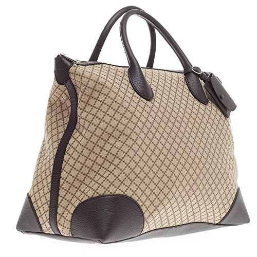 6decc4ea5af Gucci Brown Diamante Canvas and Leather Travel Carry On Tote for Men 374226