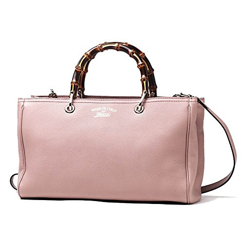 b2cf9a0b45da7c Gucci Bamboo Shopper Mauve Powder Pink Leather Tote Handbag 323660