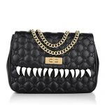 Moschino Cheap and Chic Shoulder Quilted Medium Teeth Black Bag