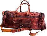 26″ Men's Genuine Leather Vintage Duffle Gym Large Travel Weekend Luggage Bag