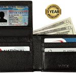RFID Blocking Leather Wallet for Men – Excellent Travel Bifold – Credit Card Protector