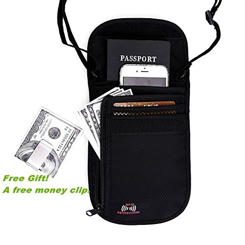 Passport Wallet - Passport Holder - Travel Wallet with RFID Blocking for Security
