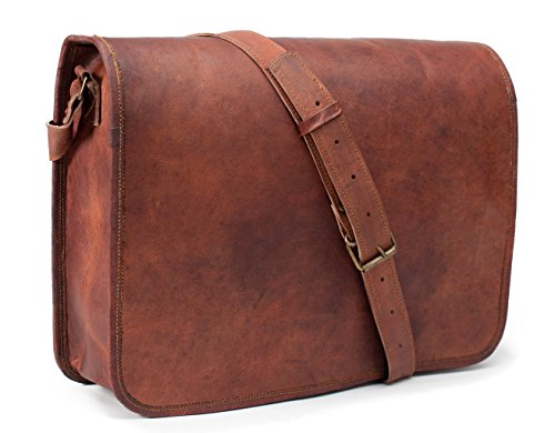 LUST Leather Messenger Bag for Men Leather Laptop Bag Shoulder Bag
