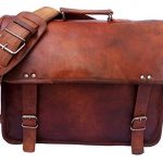 """Gbag (T) 15"""" Leather Unisex Real Leather Messenger Bag for Laptop Briefcase"""