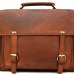 "Right Choice 18"" Large Leather Men's Messenger Bags Briefcase Laptop Cabin Satchel Office bag 18X13X6 Brown"