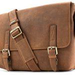 Visconti Wesley Large Distressed Leather Messenger Shoulder Bag Handbag