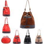 ... Satchel Briefcase, 17 ZMSnow Large Drawstring PU Leather Crossbody Handbag  Purse Bag for Girls Women ... c5b66f05c5
