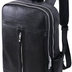 Iswee Retro Genuine Leather 15.6' in Laptop Backpacks Messenger Daypacks and Handbags for Men (IC001)