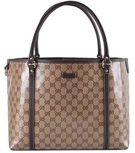 fe2cbee369f Gucci Women s Crystal Canvas Guccissima GG Joy Purse Handbag Tote ...