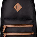 Gysan Waterproof Travel Laptop Backpacks 15.6 for Womens Mens Boys Girls School Bookbags, Black