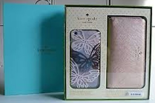 Kate Spade Gold Wristlet and iPhone 6 PLUS Butterfly Case Set, Gold/Multi