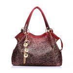 Realer Women's Handbag Tote Purse Shoulder Bag Pu Leather Fashion Top Handle Designer Bags for Ladies