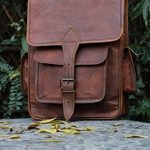 Hlc Leather Backpack College Backpack Leather Rucksack School Backpack Travel Leather Backpack Leather Laptop Backpack