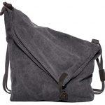 Coofit® Hobo Bag Canvas Cross-body Bags Unisex Messenger Bag Shoulder Purse