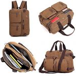 Clean Vintage Men's Messenger Bag- Hybrid Briefcase Backpack- Laptop Messenger Bag