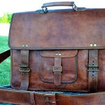 PL 16 Inch Vintage Leather Messenger Bag Briefcase / Fits upto 15.6 Inch Laptop