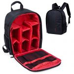 Camera Backpack DSLR Hiking Camera Bag Waterproof for Canon, Nikon, Sony, Olympus, Samsung, Panasonic, Pentax Cameras (Red)