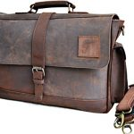 15″ Large dark Leather bag for men messenger bag shoulder bag mens Laptop Bag office bag cross body bag