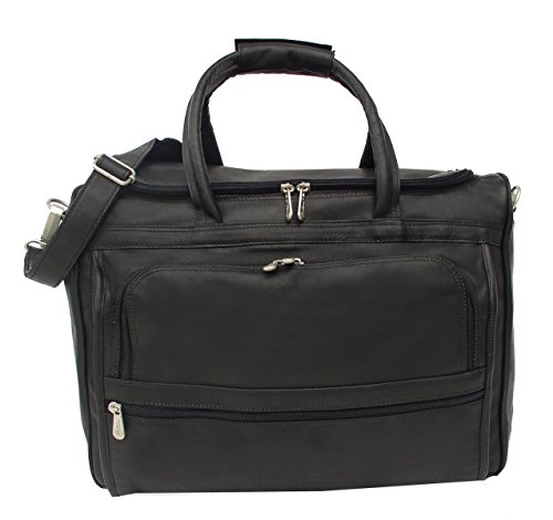Piel Leather Traveler Computer Carry-All Bag in Black
