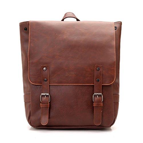 Good&god Pu Crazy Horse Leather-Like Vintage Women's Backpack School Bag