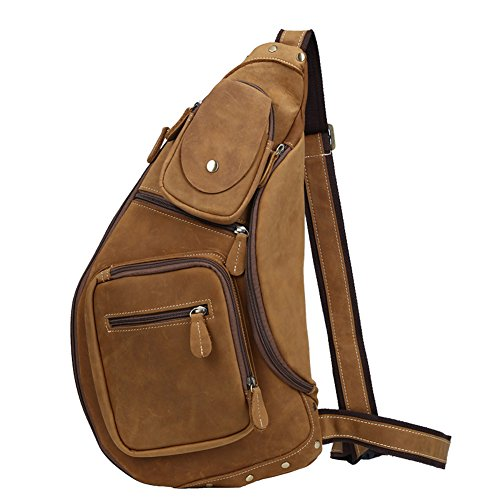 Polare Cool Real Leather Cross Body Sling Bag Backpack Large