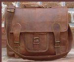 QualityArt 18″ Large Leather Briefcase Mens Messenger Bag Laptop Bag Business Bag Laptop Bag