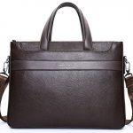 BOSTANTEN Men's Stylish Leather Briefcase Laptop Cross-body Shoulder Bag