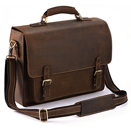 Kattee Real Leather Shoulder Briefcase 3f8d32ad3ff74