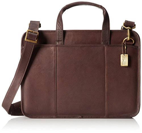 Claire Chase Small File Leather Briefcase in Cafe