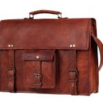 Handmadecraft 17 Inch Vintage Look Leather Laptop Messenger Briefcase Satchel Bag