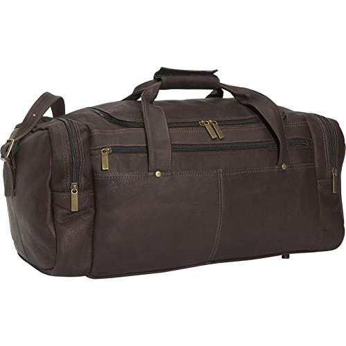 David King Leather Classic Duffel Bag in Cafe
