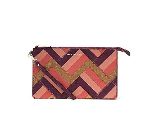 MICHAEL Michael Kors Daniela Large Marquetry Patchwork Leather Wristlet