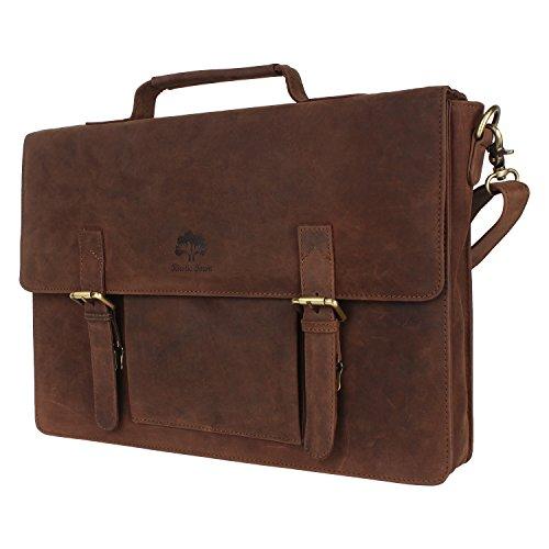 Genuine Leather Laptop Bag Leather Satchel Office Bag Leather Messenger Bag