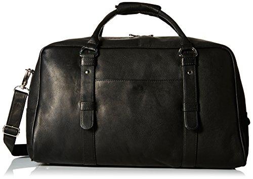 Piel Leather Large Top-Zip Duffel Bag, Black, One Size