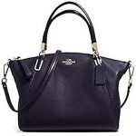 Coach Pebble Leather Sm Kelsey Satchel - Midnight