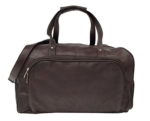 Piel Leather Traveler Deluxe Carry-On Duffel Bag in Chocolate