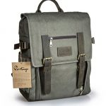 Portage Kenora Waxed Canvas Leather Backpack for Camera and Laptop
