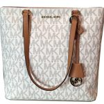 MICHAEL Michael Kors Womens Morgan Medium Tote PVC Logo