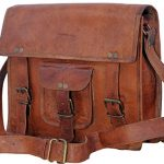 "KPL 11"" Leather Ipad Messenger Bag Flight Bag Everyday Satchel For Men & WomenSALE"