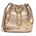 MICHAEL Michael Kors Frankie Drawstring Crossbody Bag in Pale Gold