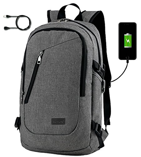 e6f2482e5d Kenox Notebook Backpack for 15 inch Laptop USB Port for Charging Electronic  Devices