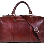 Floto Collection Cabin Duffle Bag in Vecchio Brown Italian Calfskin Leather