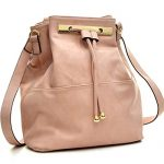 Dasein Fashion Leather Convertible Drawstring Bucket Bag and Backpack