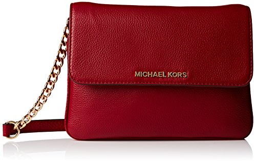 Michael Kors Bedford Women's Leather Crossbody Handbag Cherry