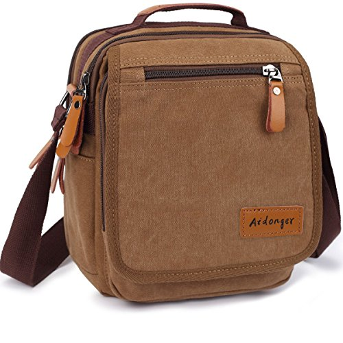 Aidonger Vintage Multifunction Canvas Business Shoulder Bag Ipad Messenger Bag